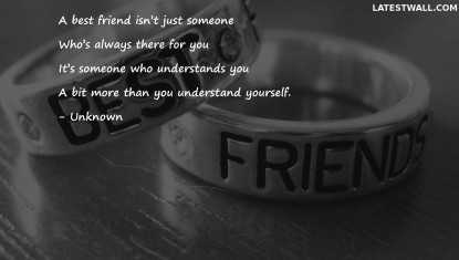 A best friend isn't just someone