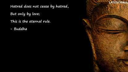 Hatred does not cease by hatred