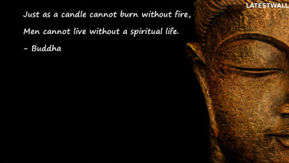 Just as a candle cannot burn without fire