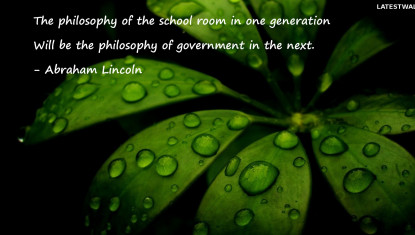 The philosophy of the school room in one generatio