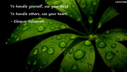 To handle yourself use your head