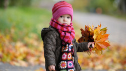 cute baby in autumn 30