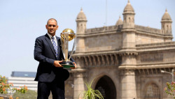 Mahendra Singh Dhoni With World Cup