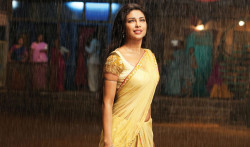 Priyanka Chopra In Yellow Saree In Agneepath