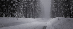 winter road 2560x1024