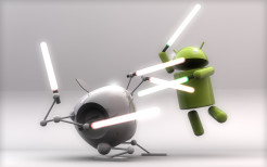 android apple fighting wallpaper