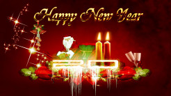 Happy New Year Red Wallpapers
