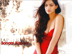 hot and sexy sonam kapoor in red dress