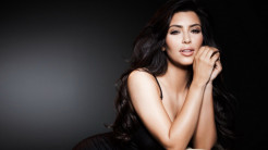 Kim Kardashian in Black HD Wallpaper