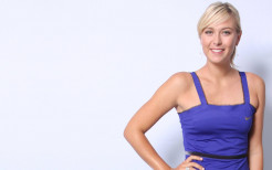 Maria Sharapova With Blue