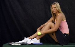 Maria Sharapova With Tennis Ball