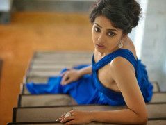 Radhika Apte In Blue Dress