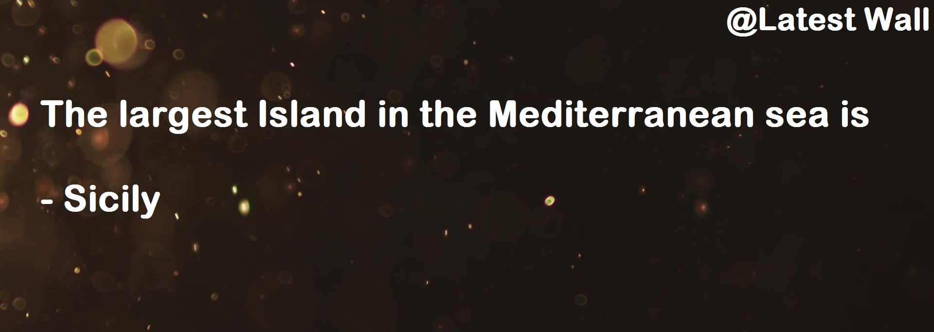 The largest Island in the Mediterranean sea is