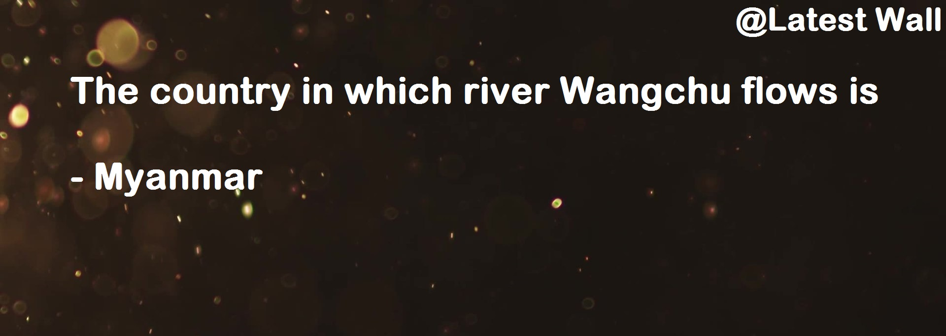 The country in which river Wangchu flows is