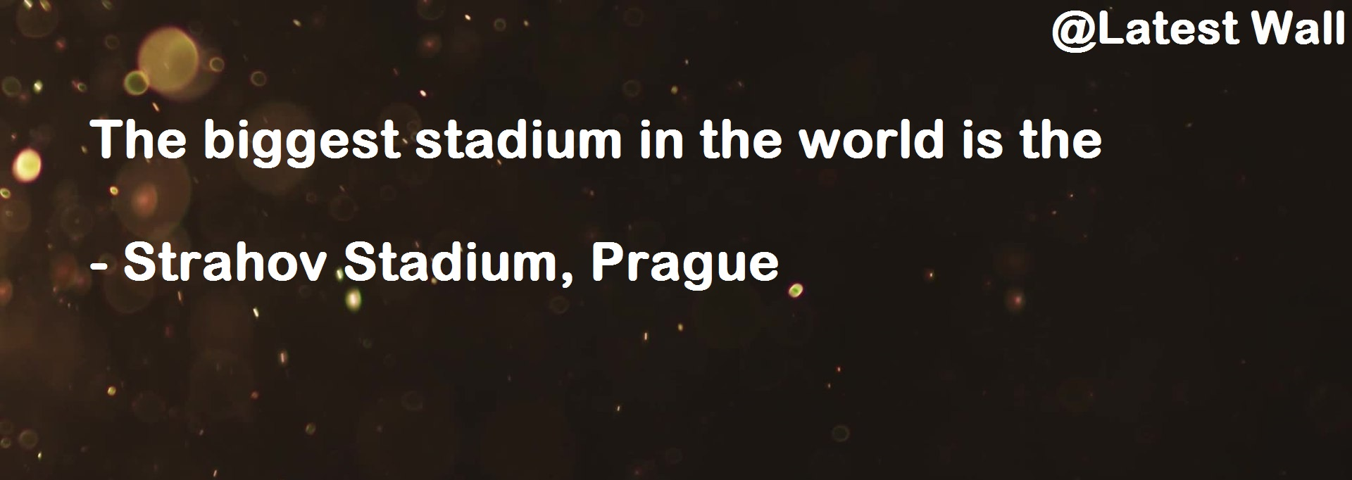 The biggest stadium in the world is the