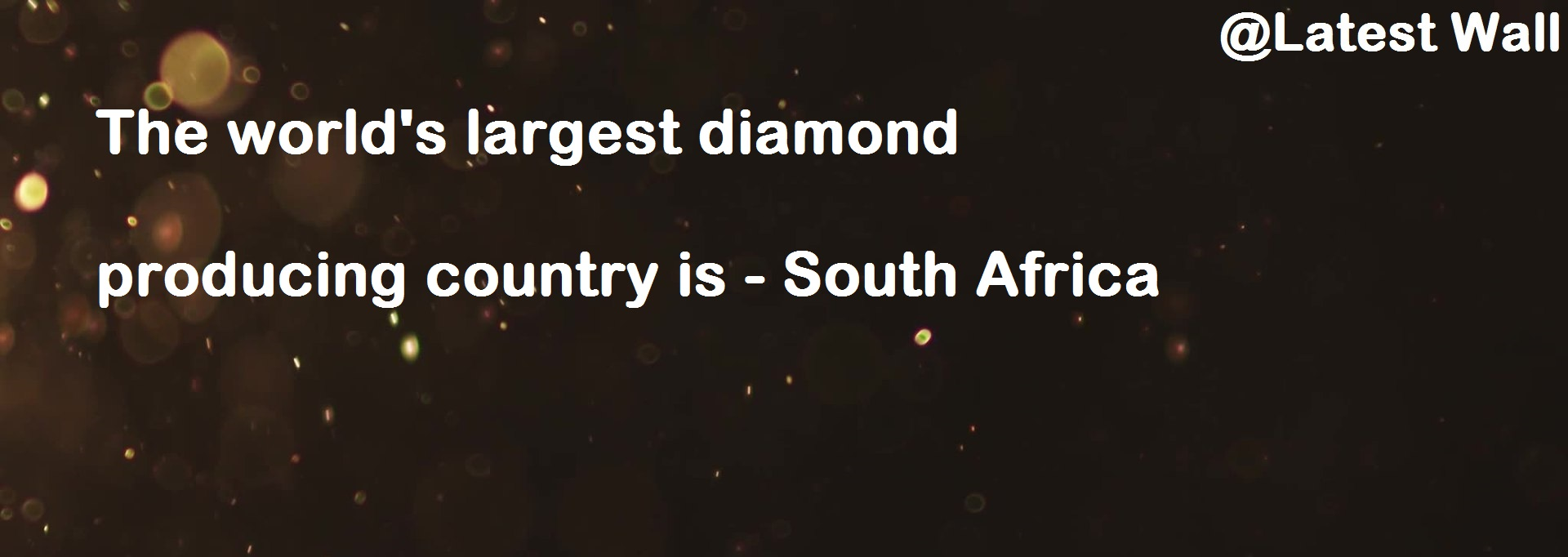 The world's largest diamond producing country is