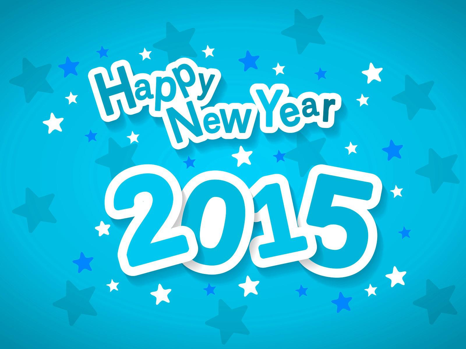 download best happy new year 2015 style blue wallpapers images free latestwall