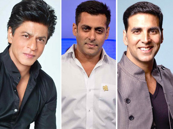 Shah Rukh Khan, Salman Khan and Akshay Kumar - Forbes highest paid celebrity list